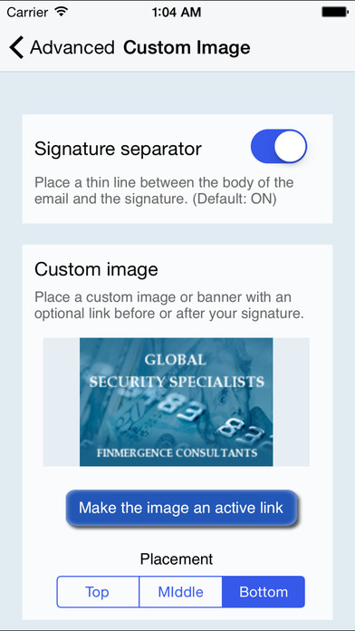 Email Signature Lite iPhone Screenshot 5