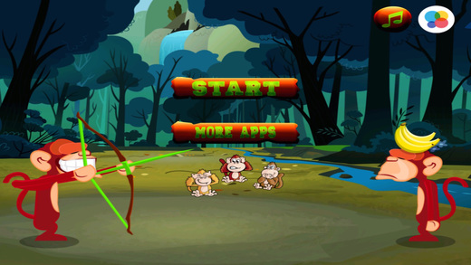 A Monkey Apple Shoot-er – Hit The Banana with bow and arrow Aim Challenge Free