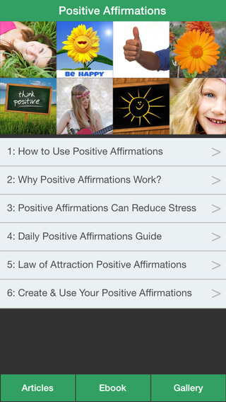 Positive Affirmations Guide - Change Your Life Through Positive Affirmations