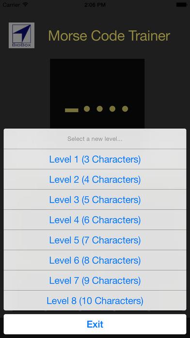 Morse Code Training iPhone Screenshot 5