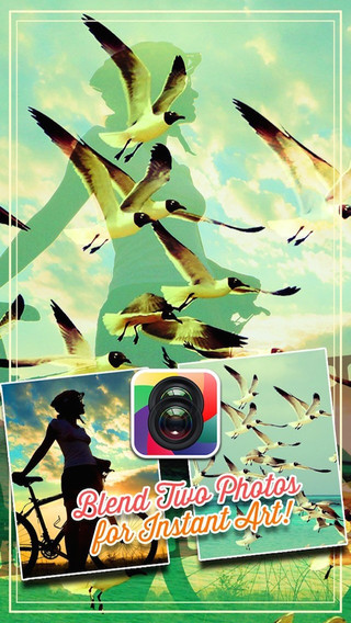Photo mix Blender -Double exposure pic blend images frames and effects