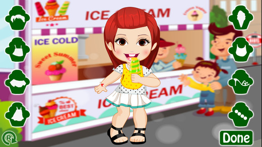 Baby Girl Loves Ice Cream Game
