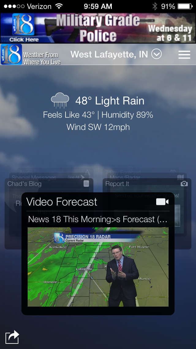 WLFI 18 Weather - Radar & Forecasts