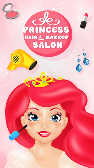 Princess Hair Makeup Salon - Makeover Game for Girls