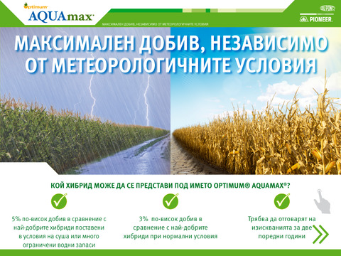 DuPont Pioneer Optimum® AQUAmax® продуктова информация