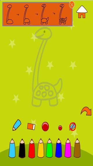 Aprenda a pintar Dinossauros
