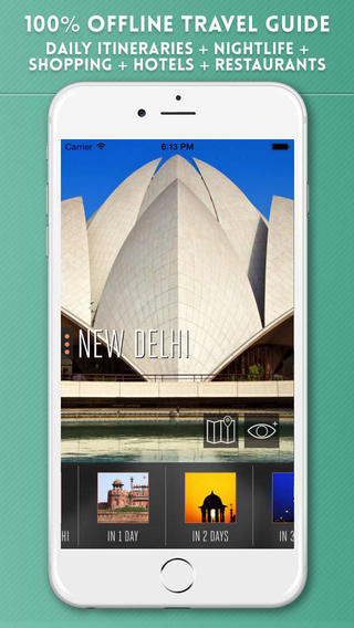 New Delhi Travel Guide with Offline City Street Maps