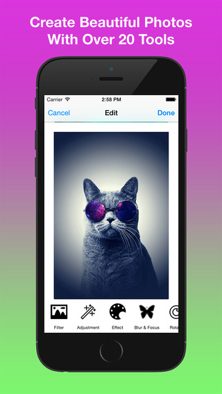 Free Photo Editor - Effects More 20 Tools Emoji Stickers