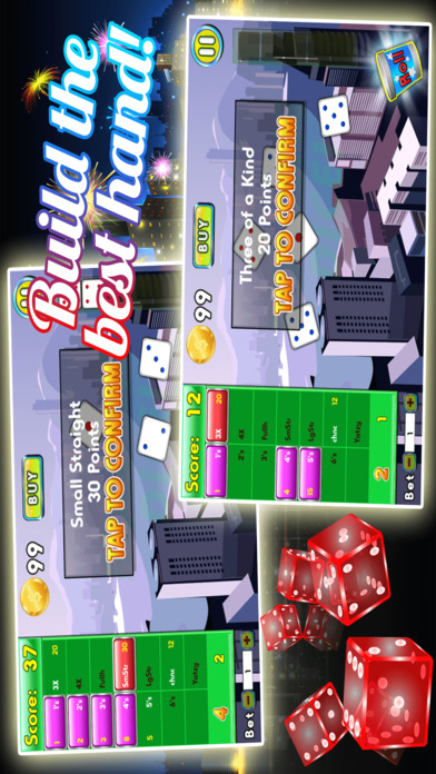 Screenshot 2 Yatzy Downtown Metro — Высокая Ставка деньги, чтобы богатства