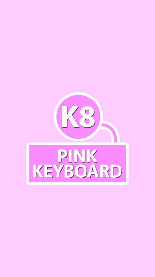 K8 Pink Keyboard