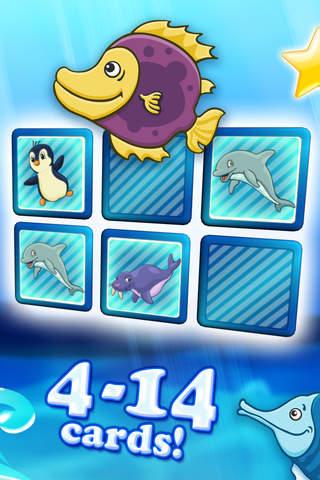 备忘录对拼图的海洋动物为幼儿 deluxe