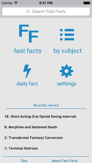 Palliative Care Fast Facts for iOS