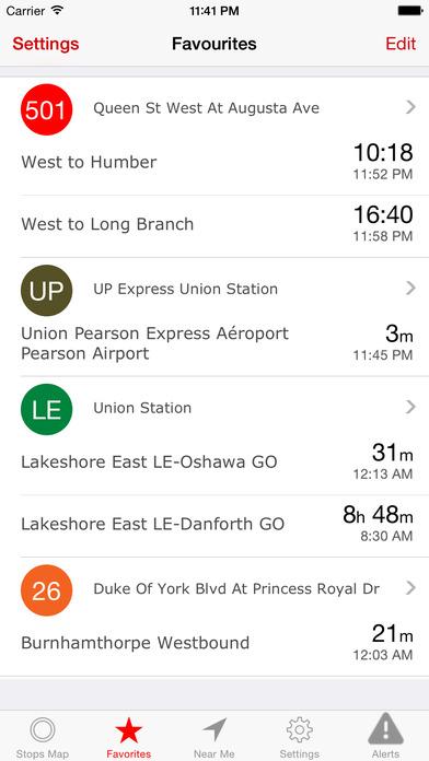 Rocket Man (TTC Streetcar schedules) iPhone Screenshot 3