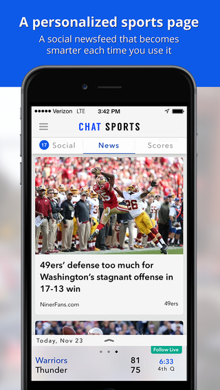 Sports News Scores Stats: Personalized by Chat Spo