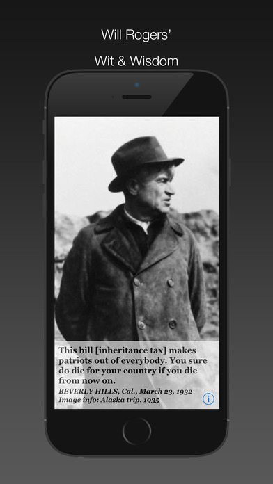 Will Rogers Daily Quotes iPhone Screenshot 2