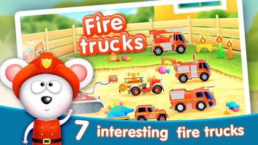 FireTrucks: 911 rescue educational app for kids
