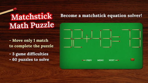 Frosby Matchsticks: Fun Puzzles with Equations - A Sylvan Edge App