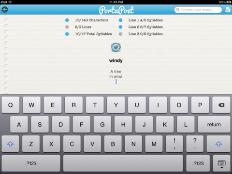PortaPoet iPad Screenshot 1