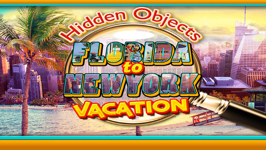 Hidden Objects - Florida to New York Vacation Puzzle