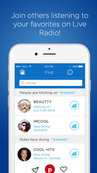 Hitch Radio - The World's 1st Instant Messaging App for Radio