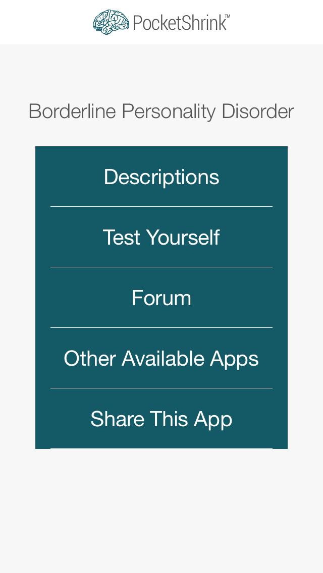 Borderline Personality Test