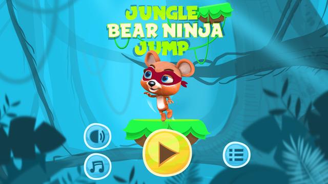 Jungle Bear Ninja Jump Game – Adventure of Funny Runner Jumper on Exotic Island