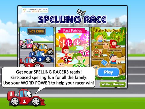 Spelling Race: Hot Cars Fast Fairies Fairy Tale Dash HD