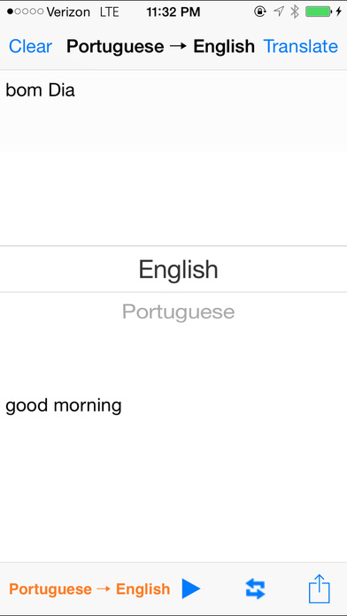 English Portuguese Translator with Voice iPhone Screenshot 2