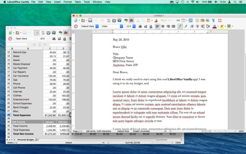 LibreOffice Vanilla Screenshot - 1