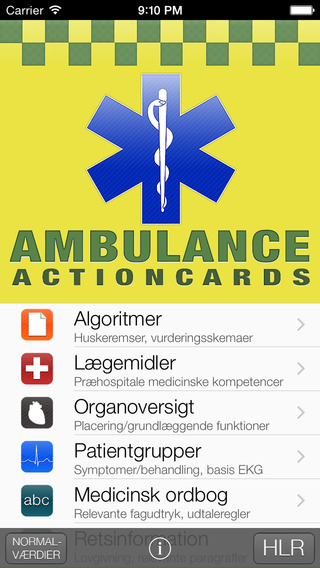 Ambulance Actioncards