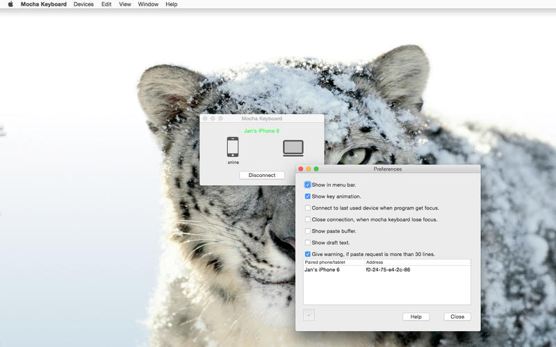 Mocha Keyboard Lite Screenshot - 2