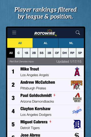 RotoWire Fantasy Baseball Assistant 2015 screenshot 4
