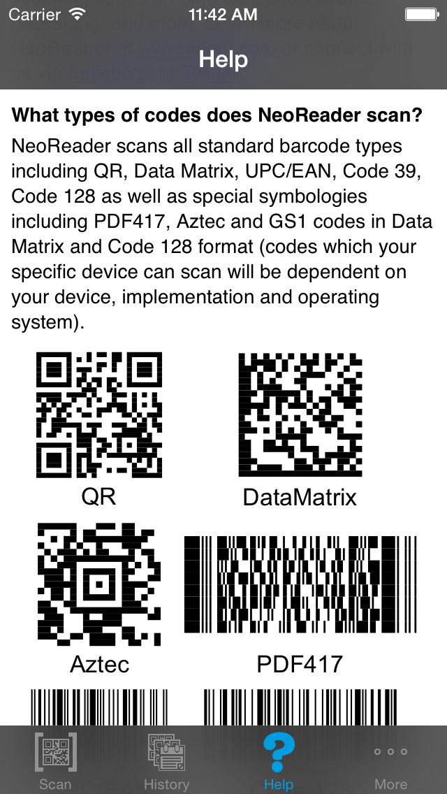 NeoReader® - QR & Mobile Barcode Scanner