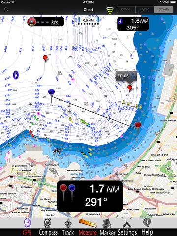 Mediterranean South East GPS Nautical charts pro