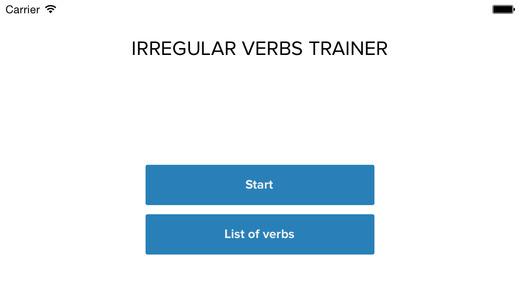 Irregular Verbs Trainer Free