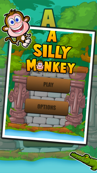 A Silly Monkey - cut the vines and swing from rope to rope to land on the island