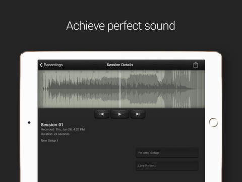 AmpKit+ - Guitar amps and effects recording studio with backing tracks, tuner and metronome Screenshots