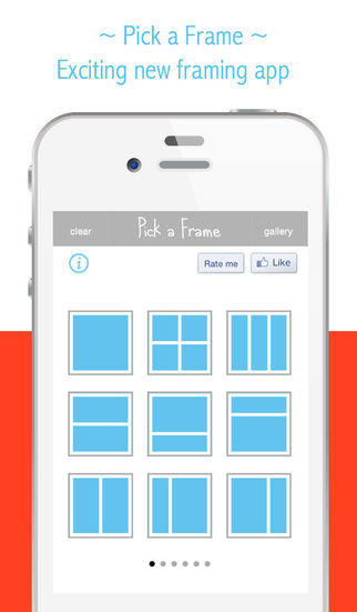 Pick a Frame - Pic Collage editing tool ideal for sharing in social media