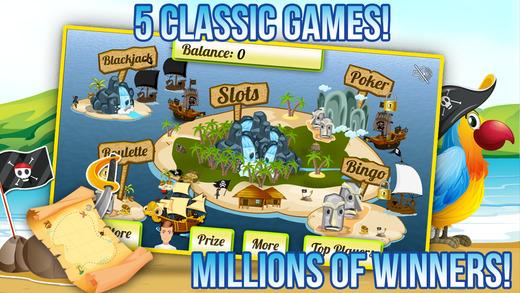 Pirates Jackpot Slots with Bingo Fun Blackjack Bonanza and More