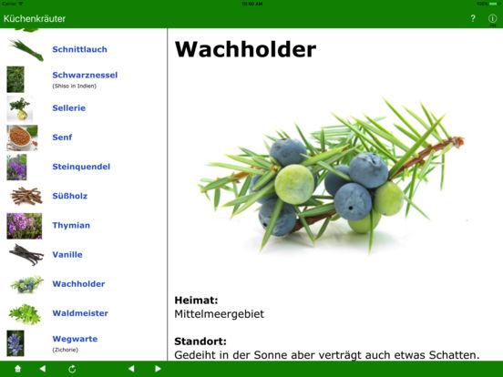 Küchenkräuter iPad Screenshot 3
