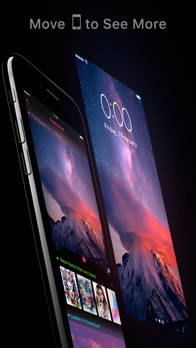 Featured of Wallpapers Cool Backgrounds and Themes Apps free for iPhone/iPad screenshot