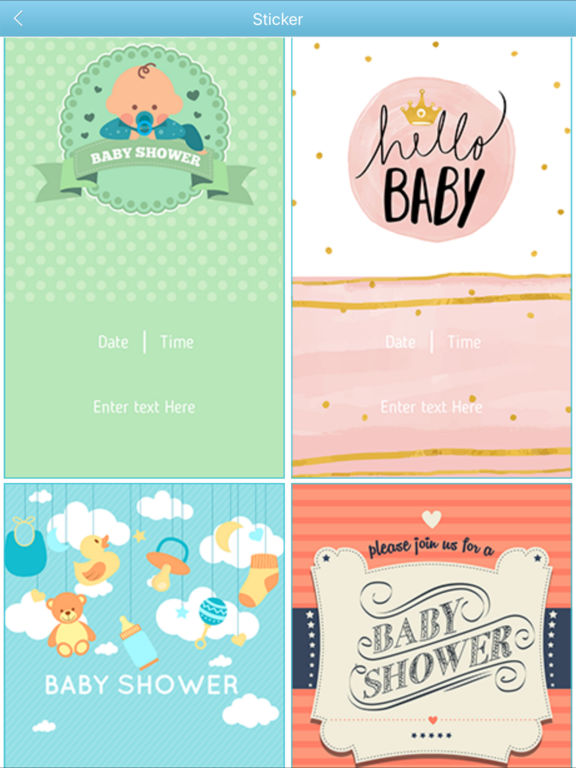 app shopper baby shower invitation cards maker hd photography