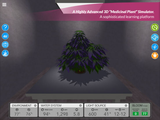 simLeaf - A Highly Advanced 3D Simulator for Growing Cannabis Image