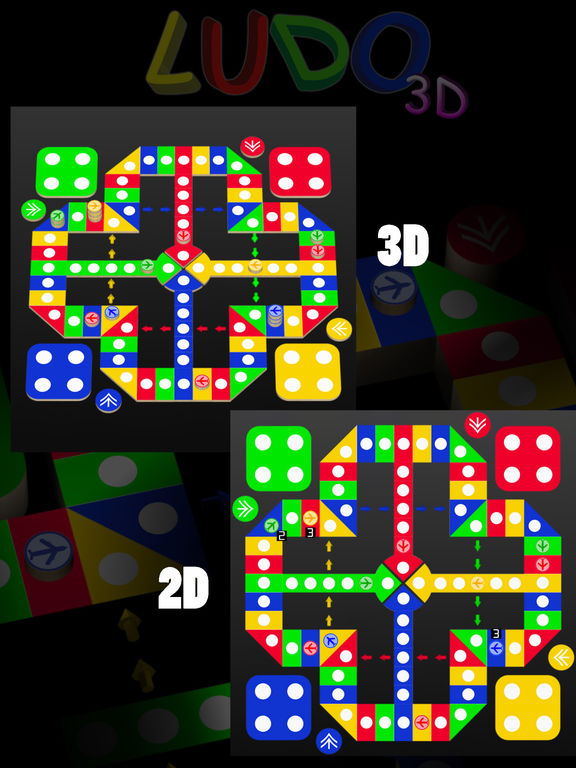 Ludo 3D : Chinese 3D Aeroplane Chess Screenshots
