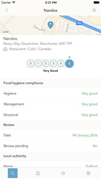 screenshot for hygienic the food hygiene ratings app in united states app store