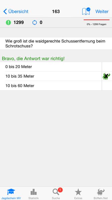Jagdschein Mecklenburg-Vorpommern iPhone Screenshot 2