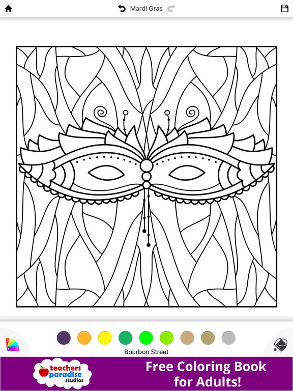 Coloring Book Not On Itunes For Adults Mardi Gras Fat Tuesday The