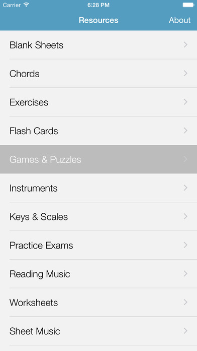 Music Resources - Theory, Worksheets & Flashcards Screenshots