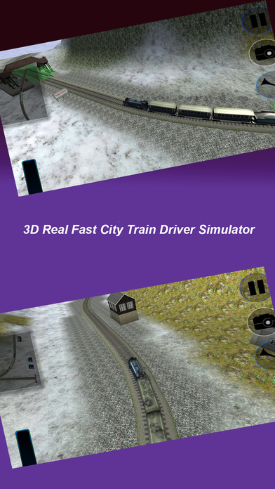 3D Real Fast City Train Driver Simulator screenshot 1