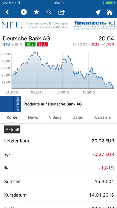 Finanzen.net iPhone Screenshot 4